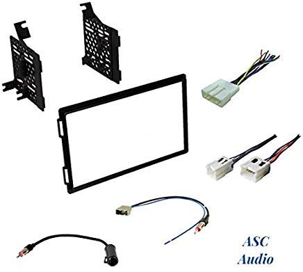 Premium Car Stereo Install Dash Kit, Wire Harness, and Antenna Adapter to Install an Aftermarket Double Din Radio for Select Nissan Vehicles - See Compatible Vehicles Below