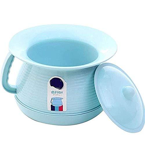 Ondersteek/urinoir Wastafel Draagbaar toilet Dames slaapkamer Urinoir Binnenwastafel Design/Potje/Potje Heren en potje om te voorkomen dat geurtjes ontsnappen (kleur: blauw)
