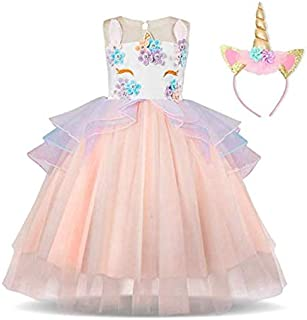 Baby Girl Unicorn Costume Pageant Flower Princess Party Dress Evening & Formal Flower Girl Dress For Girls Pageant Party T...