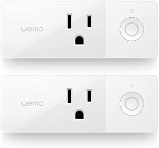 Wemo 43K-720-0224R Mini Smart Plug Compatible with Alexa, Google Assistant & Apple HomeKit(F7C063-CC), 2-pack