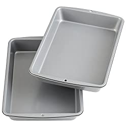 metallic baking dish