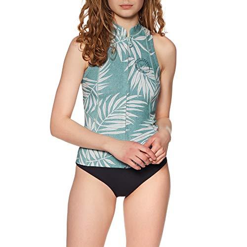 BILLABONG Womens Salty Daze 1mm Neoprenanzug Weste Top - Blue Palms - Easy Stretch - 1 mm Neopren
