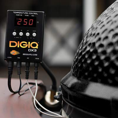 DigiQ DX3 BBQ Temperature Controller and Digital Meat Thermometer for Big Green Egg, Kamado Joe, Weber, and Ceramic Grills