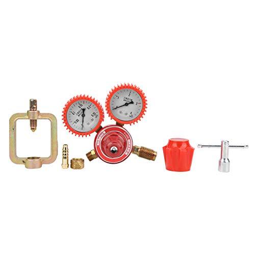 Válvula de reducción de presión de alta calidad, latón rojo presión de agua 3MPa G5/8 'M16 X 1.5 incorporado 8mm tubo de aleación de acero