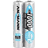 ANSMANN Akku AAA Micro Typ 1000mAh - 1,2V - Leistungsstarke NiMH AAA Akkus für Geräte mit hohem Stromverbrauch - wiederaufladbare Batterien AAA ideal für Ferngesteuertes Spielzeug...