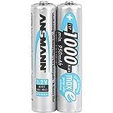 ANSMANN Micro AAA Tipo 1000mAh Batteria Ricaricabile ad Alta Capacita 2x Micro AAA NiMH HR03