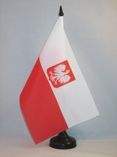 Bandera POLACA con Armas 90 x 150 cm poli/éster Ligero AZ FLAG Bandera de Polonia con Aguila 150x90cm