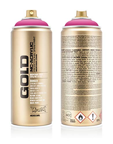 Montana Cans 284434 Montana Spray Dose Gold 400ml, Gld400-3130-Pink Pink