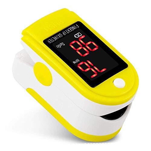 SAYYQ Pulsossimetro da dito, Omnidirezionale letture con l'allarme della punta delle dita di impulso dito cardiofrequenzimetro ossigeno misuratore di tasso di saturazione di ossigeno a casa, Frequenza