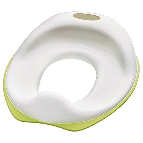 IKEA Tossig Asiento de Inodoro, Plástico, Blanco y Verde, 36x30x11 cm