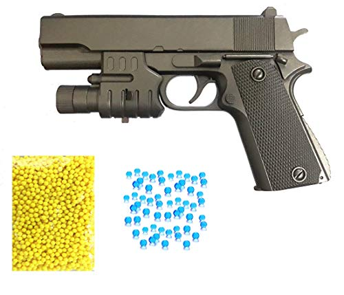 Amitasha Air Pistol Suitcase Mouser Gun with 6mm Bullets and Laser Light