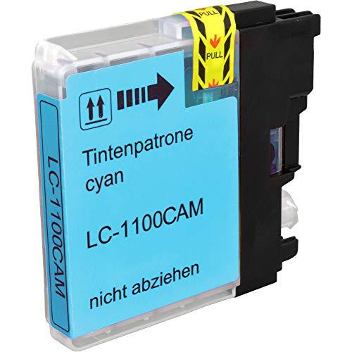 Ampertec - Cartucho de Tinta Universal para Brother LC-1100C LC-980C, Color Cian