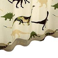 フラットカーテン【キョウリュウ】 ウォッシャブル 巾100cm-丈~120cm 1枚 巾100cm×丈105cm