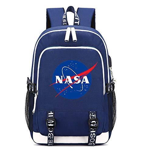 NASA Rucksäcke Schulranzen Printed Daypack Wandern Tasche Computer Rucksack Outdoor-Spielraum-Rucksack NASA Schulrucksack (Color : A02, Size : 44 X 30 X 15cm)