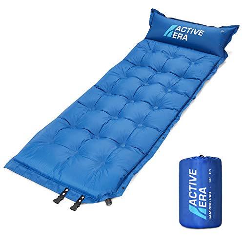Active Era Selbstaufblasende Schlafunterlage für Camping mit Kissen und Lufttaschen | Ultraleichte und Bequeme Schaum-Schlafunterlage für Reise, Outdoor, Wandern, Strand