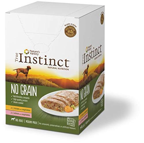 True Instinct - Comida Húmeda para Perros Adultos Medianos Y Grandes Grain Salmón Y Pollo 4 X 300 G