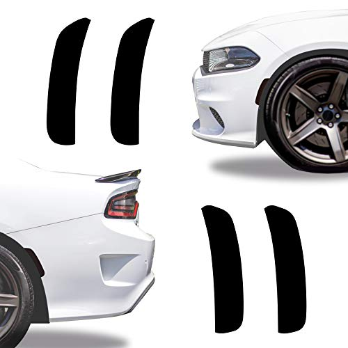 NDRUSH Blackout Side Marker Lights Vinyl Tint Film, Precut Overlay, Front Rear Sidemarker Wrap Cover Compatible with Dodge Charger 2015 2016 2017 2018 2019 2020 2021