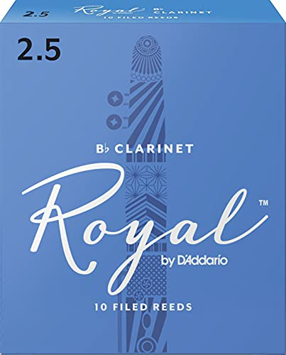 Royal Bb Clarinet Reeds, Strength 2.5, 10-pack