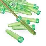 Royal Imports Floral Water Tubes/Vials for Flower Arrangements, Green - 3' (1/2' Opening) - Standard - 25/Pack - w/Caps