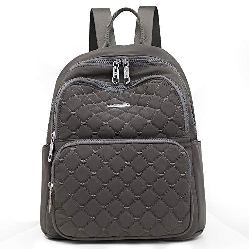 Travistar Backpack Women Shoulder Bag Waterproof Nylon Casual School Bag Daypacks Ladies Small Backpack Anti-Theft Backpack (New Gray)