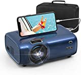 FUJSU Mini Video Projector, Portable Movie Projectors, Full HD 1080P Projector for Home Theater and Outdoor Movie, Compatible with Fire TV Stick, TV Box, PS4, Laptop, Smartphone, VGA, TF, AV