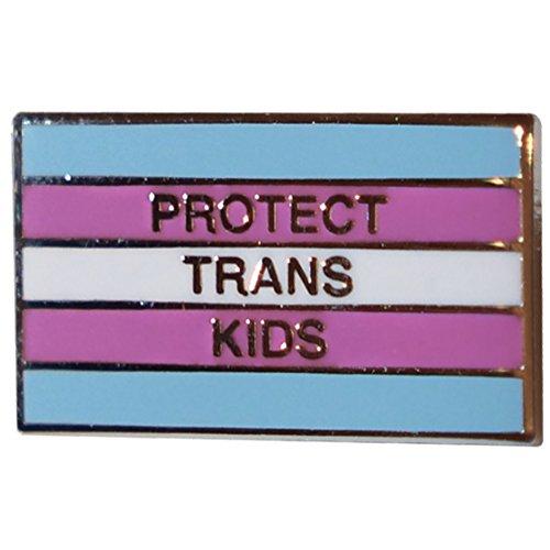 Drumpf.WTF Protect Trans Kids Anti-Trump, Pro-Equality Transgender Pride Flag Pin