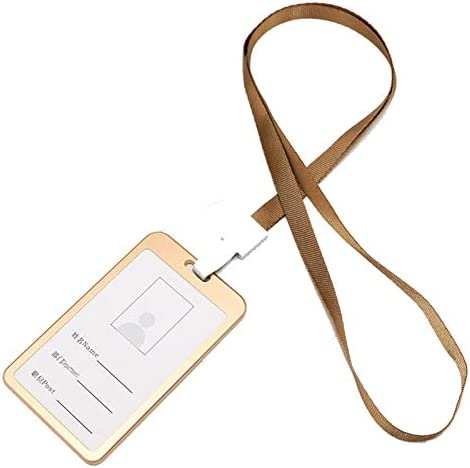 Hovico ID Badge Holder with Card Alloy Ranking integrated Limited time for free shipping 1st place Lanyard Aluminium