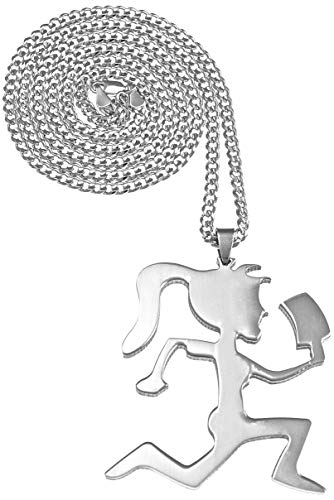 GWOOD Juggalette Girl Pendant Necklace with Cuban Link Chain