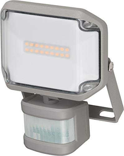 Brennenstuhl LED Strahler AL 1000 P / LED Fluter für außen mit Bewegungsmelder (LED-Außenstrahler zur Wandmontage, 10W, warmweißes Licht, IP44)
