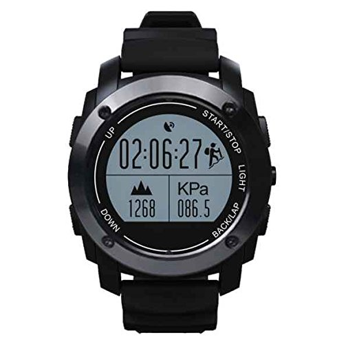 Smart sport Watch, Bluetooth Sweatproof Smart Watch con cinturino, vita impermeabile IP66, preciso posizionamento GPS, cardiofrequenzimetro, Touch Screen e fitness tracker per iPhone e smartphone Android