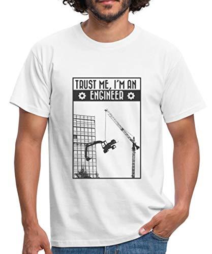 Trust Me I'm An Engineer Ingenieur Humor Männer T-Shirt, M, Weiß