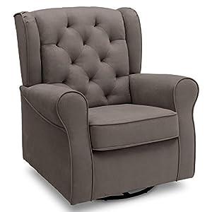 Delta Children Emerson Nursery Glider Swivel Rocker Chair, Graphite