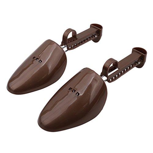 LnLyin Schuhspanner für Herren und Damen, praktisch, Kunststoff, verstellbar, plastik, braun, Men