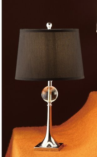 Poundex PDEX-F5324 Set of 2 Table Lamps with Black Shade in Brass Base