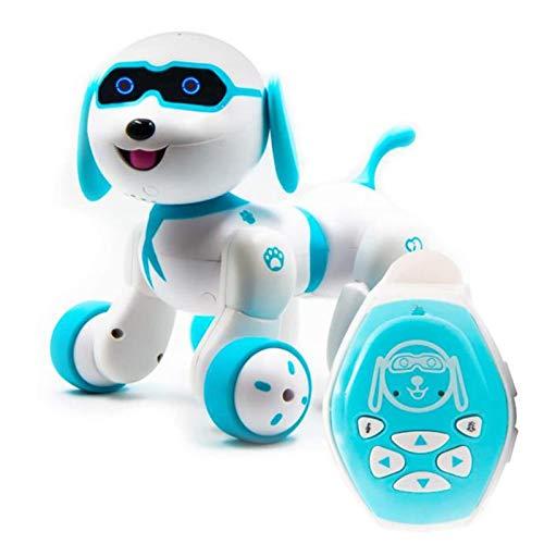 SODIAL Roboterhundespielzeug Fernbedienungshund für Kinder Interaktive Intelligent Robots Welpen KunststüCk Robotic Hund Gehend Tanzen Singen