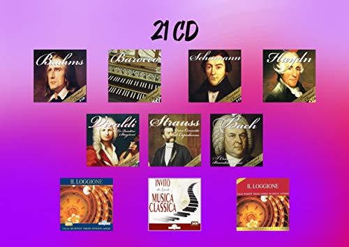 21 CD Colección de Música Clásica - Vivaldi, Strauss, Bach, Brahms, Schumann, Haydn, Barocco, Opera
