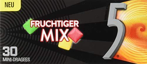 5GUM Kaugummi | Fruchtiger Mix | Zuckerfrei | 12 Packungen (12 x 30 Dragees)