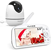 """Baby monitor with camera and audio, VILINICE Video Baby Monitor with 720P HD Large 5.5"""" Display, Auto Night Vision,Two-Way Talk, Temperature Monitor, VOX Mode, and Long Battery Life"""
