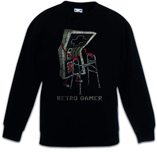 Urban Backwoods Retro Gamer Kinderen Jongens Meisjes Sweatshirt Pullover Trui Schwarz