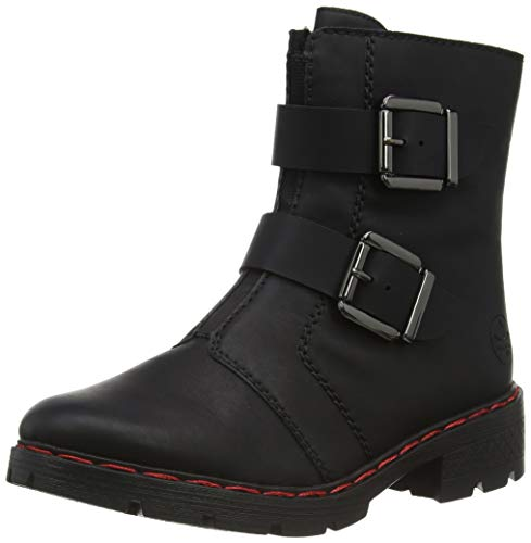 Rieker Damen 76360 Mode-Stiefel, schwarz, 38 EU