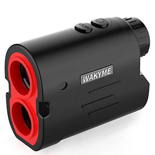WAKYME Rangefinder, Golf & Hunting Range Finder, 650 Yards 6X Laser Range Finder with Slope, Fast Flag-Lock, Angle Measurement, Speed, Continuous Scan, Laser Rangefinders with Low Battery Indicator