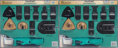 Great Deal! 2 SET DEAL PROMO - FastCraft 42pc Power Oscillating Multi Tools Set (Original Retail Pac...