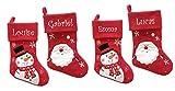 Chaussette de Noël personnalisée avec le prénom/nom brodé, Peluche Doudou Père...