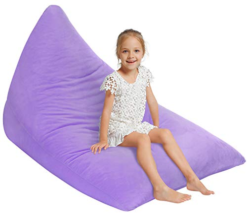 Aubliss Velvet Stuffed Animal Storage Bean Bag Chair Cover,Toy Storage Bag Lounge Chair Cover...