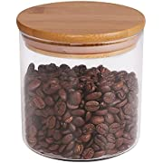 Food Storage Jar, 77L Glass Food Storage Jar with Airtight Seal Bamboo Lid - Modern Design Clear Glass Food Storage Canister for Serving Tea, Coffee, Spice and More