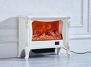 ART FLAME Chimenea eléctrica de Ravenna, blanca, potencia 1500 W