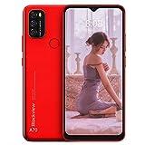 Blackview Smartphone a A70 Android 11 5380mAh Batería Grande Octa Core 3GB RAM + 32GB ROM Pantalla de 6.517 Pulgadas Cámara de 13MP(Red)