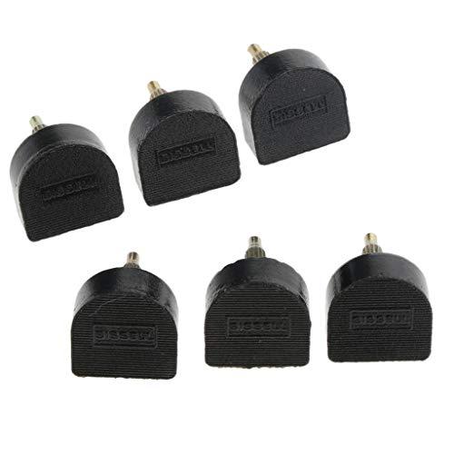 Hellery 3 Paar Rutschfeste Fersenplatten in verschiedenen Größen, zur Reparatur von Schuhen mit hoher Ferse - Schwarz, 15x18mm