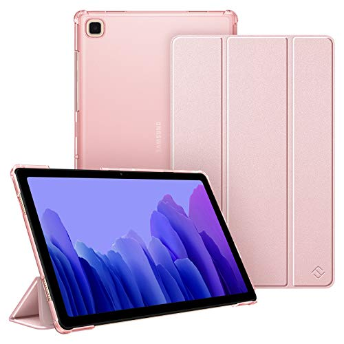 Fintie Hülle für Samsung Galaxy Tab A7 10.4 2020, Superdünn Schutzhülle mit durchsichtiger Rückseite Abdeckung Cover, Auto Schlaf/Wach für Galaxy Tab A7 10.4 SM-T500/T505/T507, Roségold