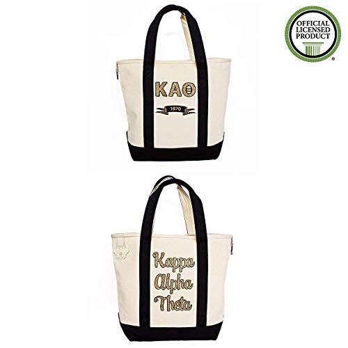 Kappa Alpha Theta Sorority Canvas Tote Bag Officially Licensed